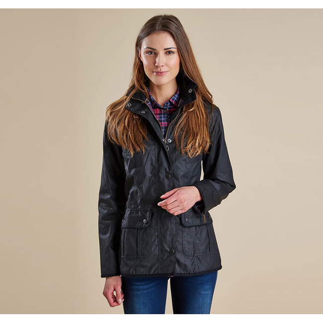 Barbour Women LADIES UTILITY WAX JACKET Black On Sale