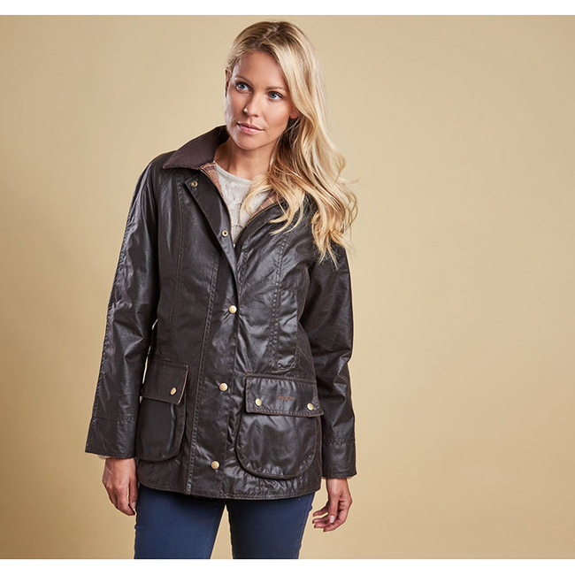 Barbour Women BEADNELL WAX JACKET Rustic On Sale