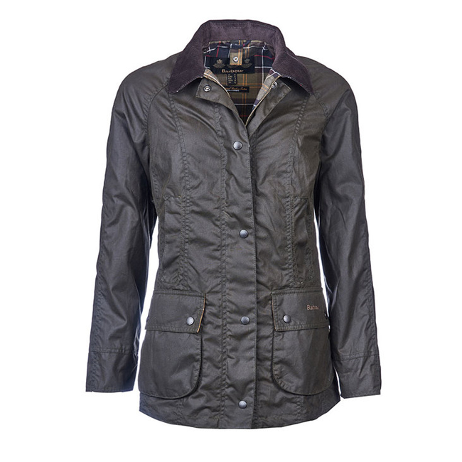 Barbour Women CLASSIC BEADNELL WAX JACKET Olive  On Sale