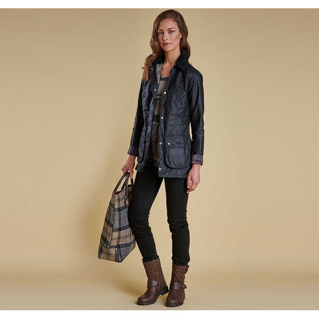 Barbour Women STRAITON WAX JACKET Black On Sale