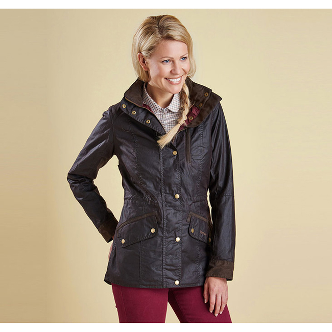 Barbour Women BADMINTON WAX JACKET Rustic On Sale