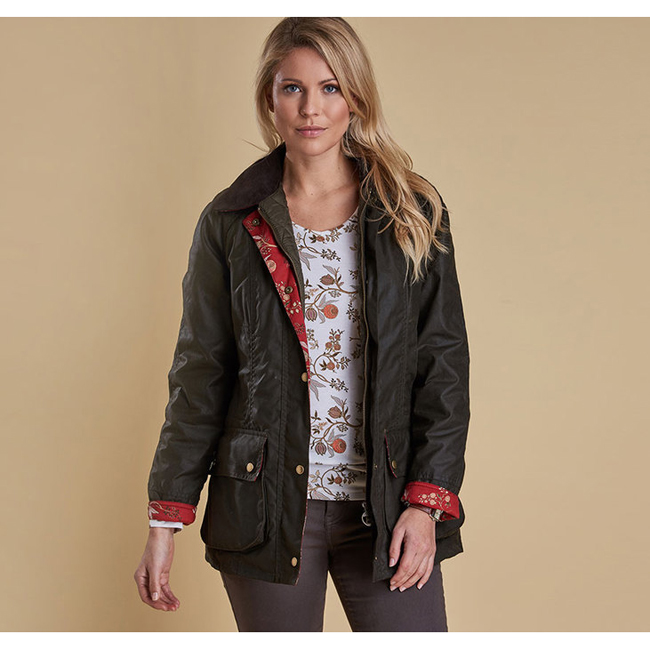 Barbour Women CATHERINE WAX JACKET Olive  On Sale