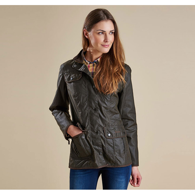 Barbour Women LADIES UTILITY WAX JACKET Olive On Sale