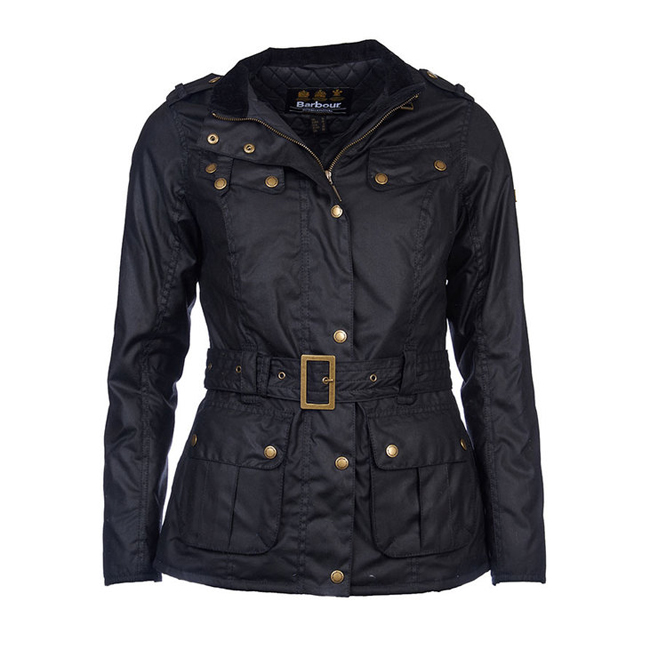 Barbour Women B.INTL GOLDWING WAX JACKET Black  On Sale