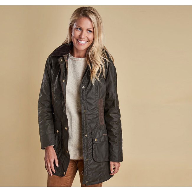 Barbour Women BOWER WAX JACKET Olive On Sale