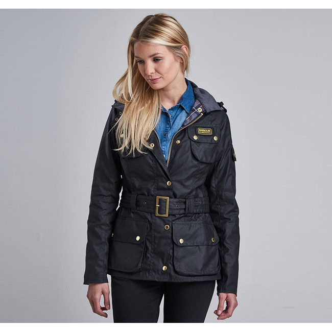 Barbour Women B.INTL LADIES INTERNATIONAL WAX JACKET Black On Sale