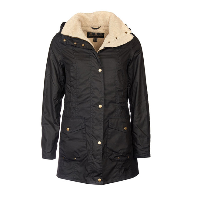 Barbour Women BLEAKLOW WAX JACKET Black On Sale