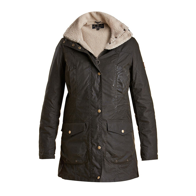 Barbour Women BLEAKLOW WAX JACKET Olive On Sale