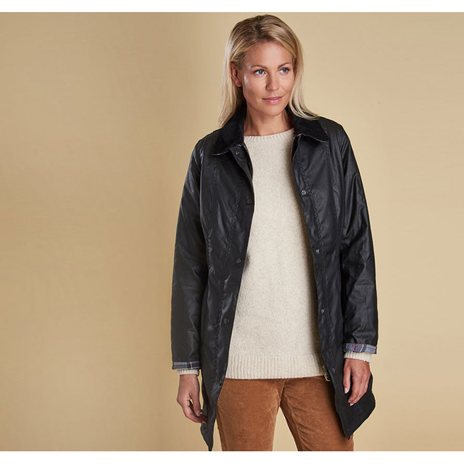 Barbour Women BELSAY WAX JACKET Black On Sale