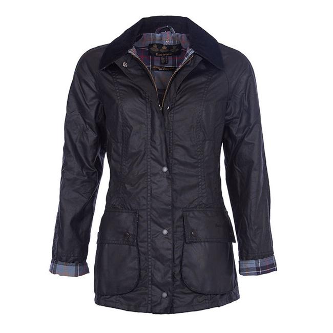 Barbour Women Beadnell Wax Jacket Black On Sale